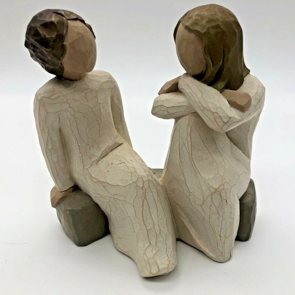 Willow Tree HEART AND SOUL Demdaco Resin Figurine Sisters, Friends Girls 2002